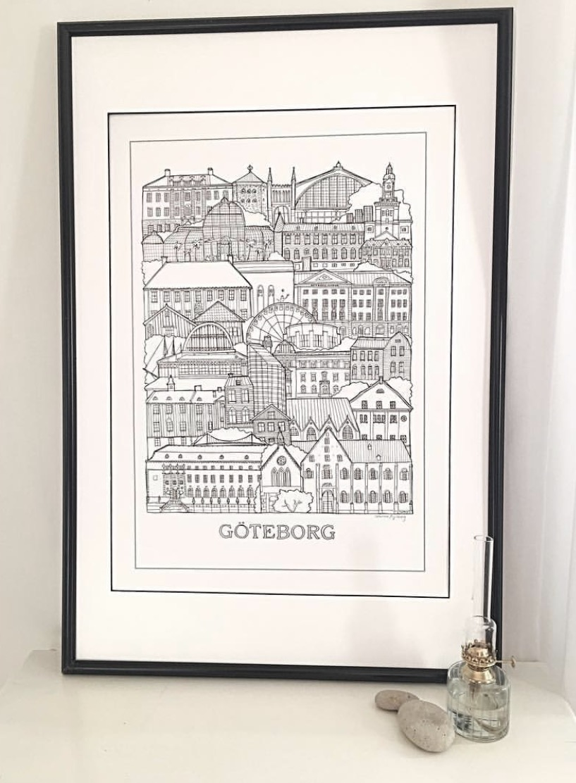 Poster över Göteborg